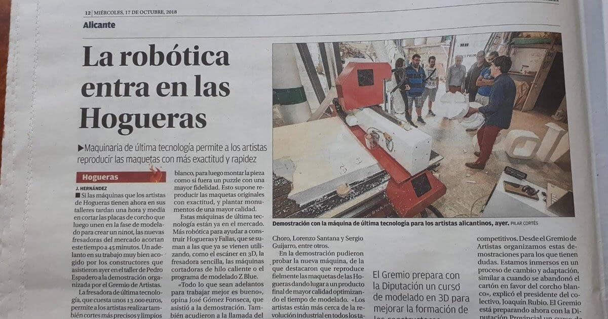 Demostración Fresadora K09E Alicante